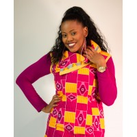 Nomsa Top - Pink Kente