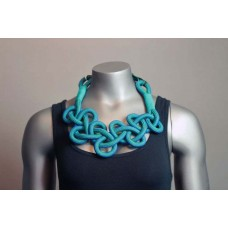 Twisted Necklace - Green/Blue