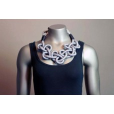 Twisted Necklace - Black/White