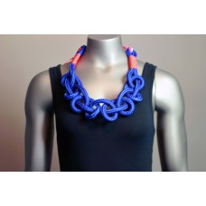 Twisted Necklace - Blue