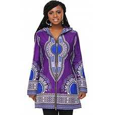 Ankara Print Dashiki Long Jacket - African Clothing - African Print Dress for women
