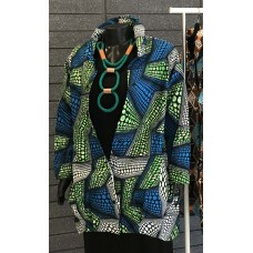 Chelsea Coat - Green/Blue