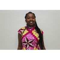 Modern African clothing Ankara fabric pattern dress